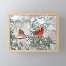Remembering.... (Northern Cardinals) Framed Mini Art Print