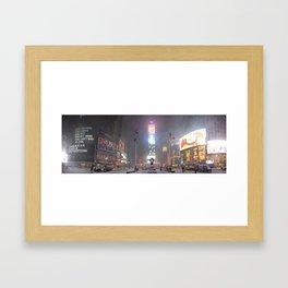 Times Square Blizzard Framed Art Print
