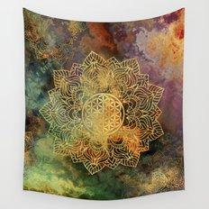 Flower Of Life Batik Wall Tapestry