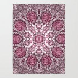 mandala purple Poster