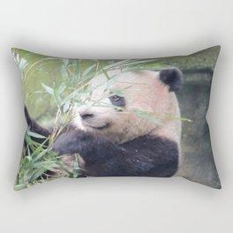 Panda eating bambou Rectangular Pillow