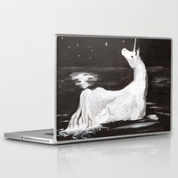 the last unicorn Laptop & iPad Skins featuring The Last Unicorn by Alexandra Sutherland