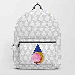 039 birdie kisses the sweet morning raindrop Backpack