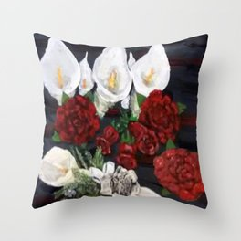 Lillies ad Roses Throw Pillow