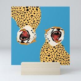 Screaming Cheetah Mini Art Print