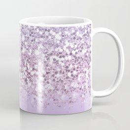 Sparkly Unicorn Lilac Glitter Ombre Coffee Mug