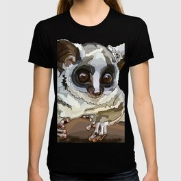 Cute Bushbaby on white T-shirt