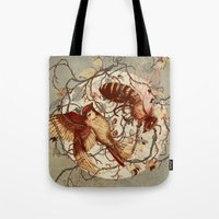 type Tote Bags featuring Honey & Sorrow (grey) by Teagan White
