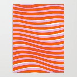 electric zebra stripes Poster