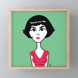 Audrey Tautou Framed Mini Art Print
