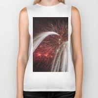 fireworks Biker Tanks featuring Fireworks by Carolina Jaramillo