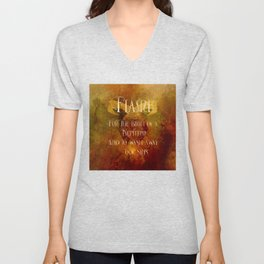FLAME for the birth of a Nephilim and to wash away our sins. Shadowhunter Children's Rhyme. Unisex V-Neck