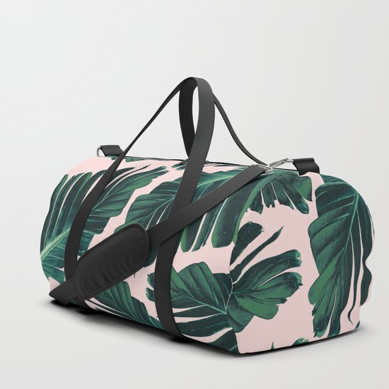 Tropical Blush Banana Leaves Dream #1 #decor #art #society6 by anitabellajantz
