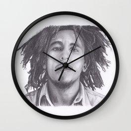 Marley pencil drawing - Bob Wall Clock