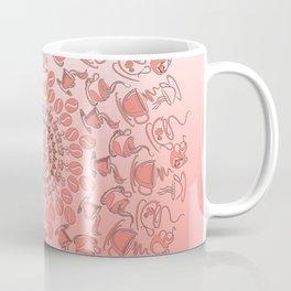 Living coral coffee mandala No1 Coffee Mug