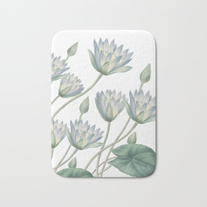 Memory Foam Water Lily.Water Lily Bath Mat