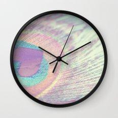 I Heart Peacocks Wall Clock