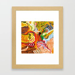 colored flow Framed Art Print
