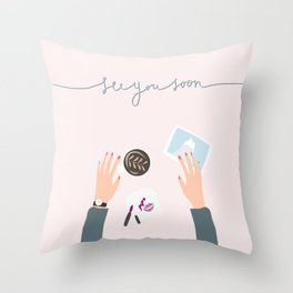 see you soon Throw Pillow