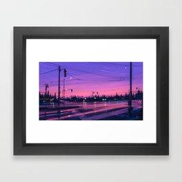 7 p.m. Framed Art Print