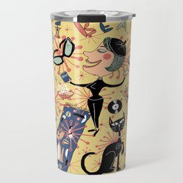 1950's Beatnik Style Travel Mug