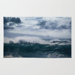 He inoa wehi no Hookipa  Pacific Ocean Stormy Sea Rug
