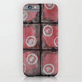 Black Grid Red Stripes iPhone Case
