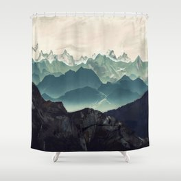 Shades of Mountain Shower Curtain