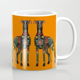 greyhound orange Coffee Mug