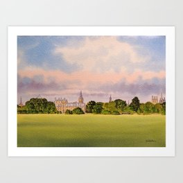 Christchurch Meadow Oxford City England Art Print
