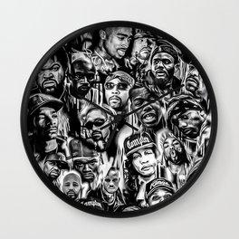 Gangster Rap Legends Print Wall Clock