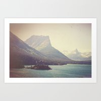 retro Art Prints featuring Retro Glacier by Kurt Rahn