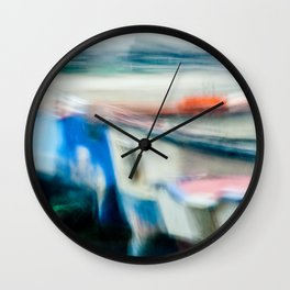 Boats Painting Wall Clock
