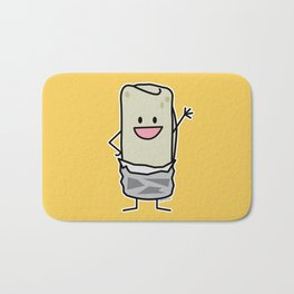 Happy Burrito Waving Hello Bath Mat