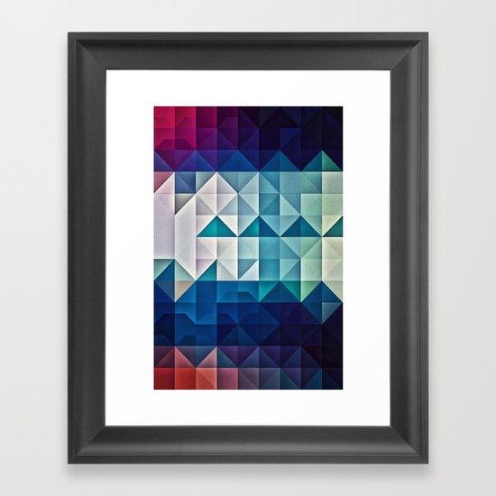 cool palette Framed Art Print