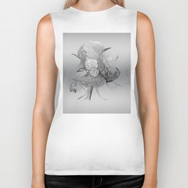 50 Shades of lace Silver Silver Biker Tank