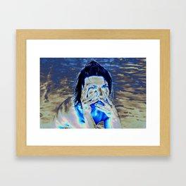 Expressive Portrait of NADJA Framed Art Print