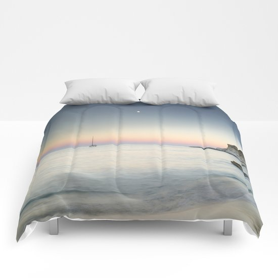 """SuperMoon in Plomo Beach"" Comforters"