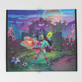 Enter The Dream Sequence - The Lone Gate Throw Blanket