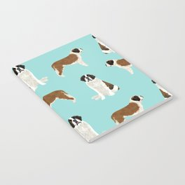 Saint Bernard dog breed pet portrait pure breed unique dogs gifts Notebook