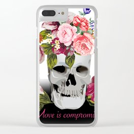 Love is compromise Clear iPhone Case