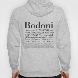 Bodoni (Black) Hoody