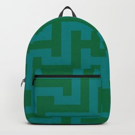Teal Green and Cadmium Green Labyrinth Backpack