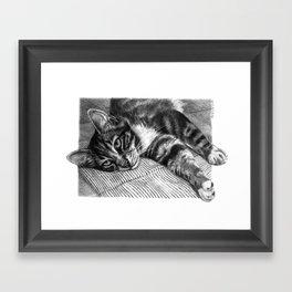 Resting Kitty G064 Framed Art Print
