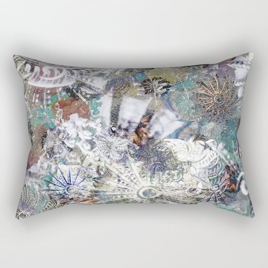 Messages from the Past Rectangular Pillow