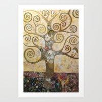klimt Art Prints featuring klimt by Ju Tiscornia