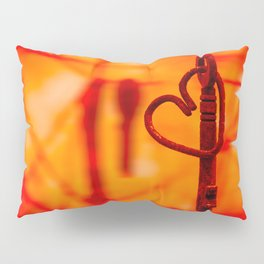 Key to my Heart by Touch la Dark Pillow Sham