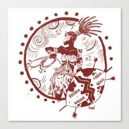 Afr Amazon Fan Art Canvas Print