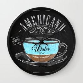 Coffee americano chalk Wall Clock