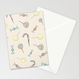 Candy Rush // lollipops, candy canes, toffees, candies Stationery Cards